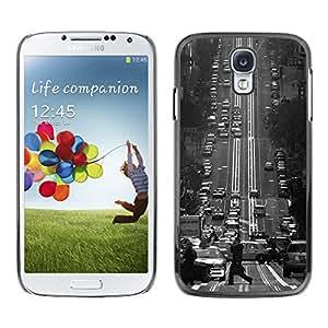 Paccase / SLIM PC / Aliminium Casa Carcasa Funda Case Cover para - Fransisco Black White Vintage Trolly - Samsung Galaxy S4 I9500