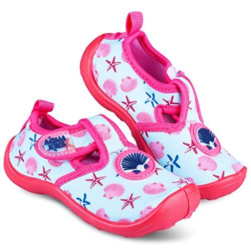 [A204-PNK-T7] Aquakiks Water Aqua Shoes for Girls, Kids Waterproof Sandals, Pink (Kids Shoes Girls Shoes)