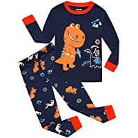 Dolphin&Fish Boys Pajamas Little Kids Pjs Sets Moon&Star Cotton Toddler Sleepwears