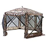 Quick Set 10810 Pavilion Screen Shelter, 150 x 150-Inch Portable Popup Gazebo Tent Rain Protection Easy Setup (7-9 Person), Camouflage/Black, Camouflage
