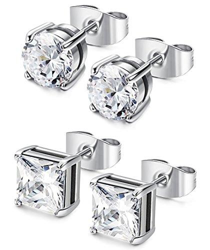 LOYALLOOK Stainless Zirconia Earrings Birthstone