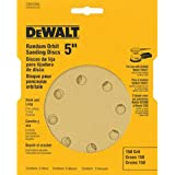 DEWALT DW4304 5-Inch 8 Hole 150 Grit Hook and Loop Random Orbit Sandpaper (5-Pack)