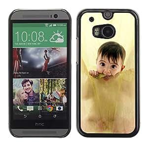 Paccase / SLIM PC / Aliminium Casa Carcasa Funda Case Cover - Anne geddes cute baby - HTC One M8