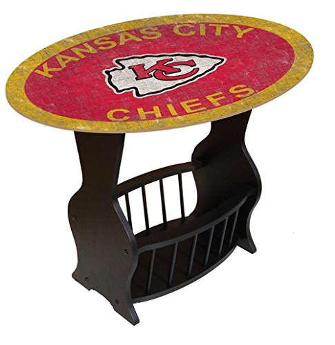 Fan Creations N0818-KCC Kansas City Chiefs Distressed End Table -