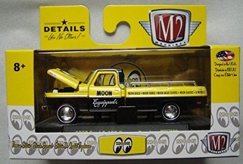 M2 MACHINES 1:64 SCALE YELLOW/BLACK 1969 FORD F-100 RANGER TRUCK WMTS09 LIMITED PRODUCTION