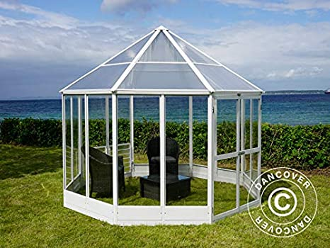 Dancover Invernadero orangerie en policarbonato, Octagonal 7, 37m² ...