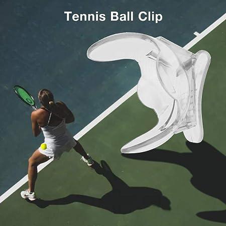 kingpo Tennis Ball Clip de Pelota de Tenis/Soporte de Pelota Soporte de Pelota Color Transparente Tenis Accesorios
