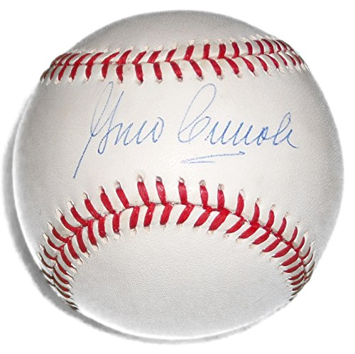 Babe Ruth Vintage Baseball Glove - GINO CIMOLI SIGNED VINTAGE BILL WHITE ONL BASEBALL BROOKLYN DODGERS A's CARD JSA