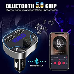 51h5jnlvlCL. SS300  - Clydek-FM-Transmitter-for-Car-Bluetooth-50-Car-Radio-Audio-Adapter-with-Dual-USB-Charging-Port-MP3-Player-Car-Charger-Support-Hands-Free-USB-Stick-SD-Card