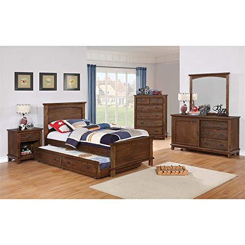 4 Piece Twin Panel Bedroom - Coaster Kinsley 4 Piece Twin Panel Bedroom Set in Country Brown