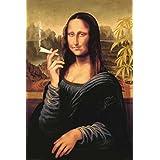 Mona Lisa (Smoking Pot) Art Poster Print - 24x36