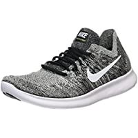 NIKE Men's Free RN Flyknit 2017 Black/White Running Shoes