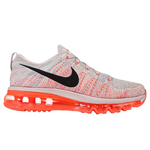 Nike Donna Wmns Flyknit Max, Viola Cenere / Nero-iper Arancio-vela, 10,5 Us