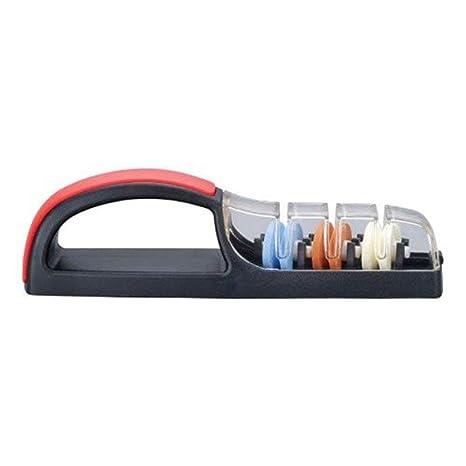 Mino Sharp 550BR Plus - Afilador para 3 cuchillos, color negro y rojo