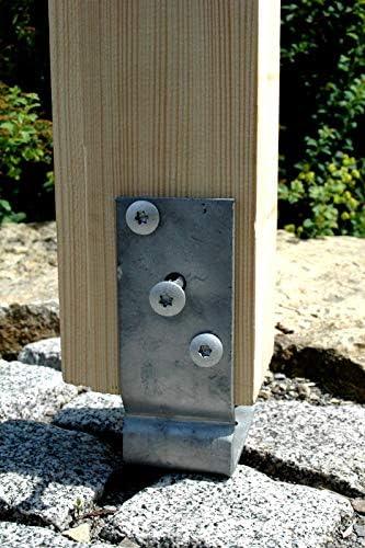 feuerverzinkt 1 St/ück U-Pfostentr/äger aufschraubbar f/ür 120 mm Pfosten