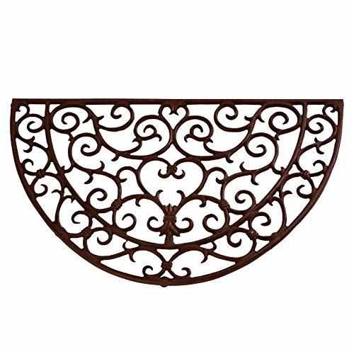 Esschert Design Doormat in Antique Rust - Half - Design Door Iron Mat
