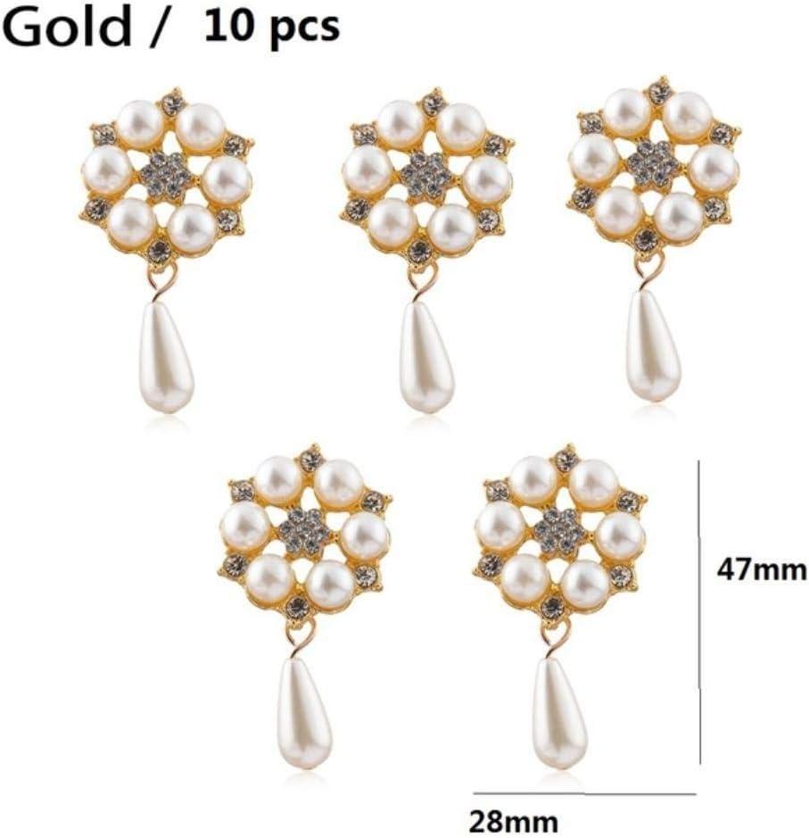 10 Pcs Snowflake Pearl Flatback Craft Read Description