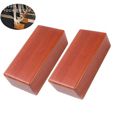 Bloque de yoga de madera de 2 piezas, bloque de parada de ...
