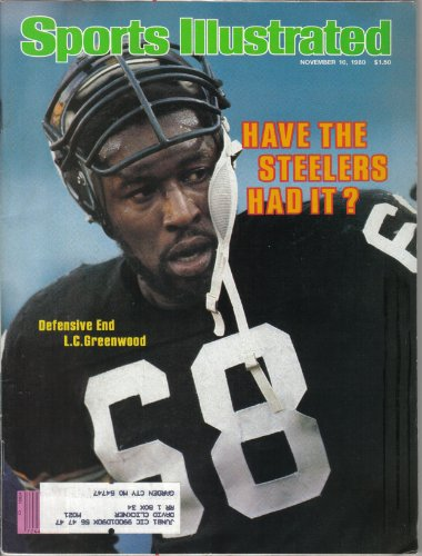 - Sports Illustrated November 10, 1980 LC Greenwood of Pittsburgh Steelers