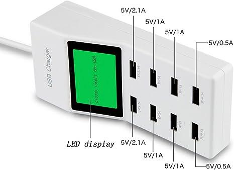Peralng® 8 Port USB Ladegerät Mit 5V(0.5A 2.1A) Hohe Leistung Multi Charger Universel Ladegerät Kompatibel Mit überlastungsschutz Steckdosen