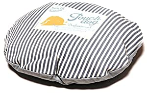 B00WFVN3381AN Touchdog Polka-Striped Polo Rounded Fashion Dog Bed, Baby Blue, Steel Grey, MD