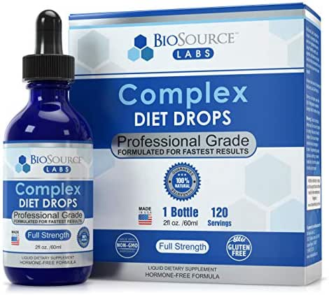 BioSource Labs Complex Diet Drops – Weight Loss Drops for Rapid and Lean Loss, Best Natural Metabolism Booster for Men and Women (2-Ounce Bottle)