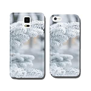 winter background with frosty fir branches cell phone cover case iPhone6 Plus