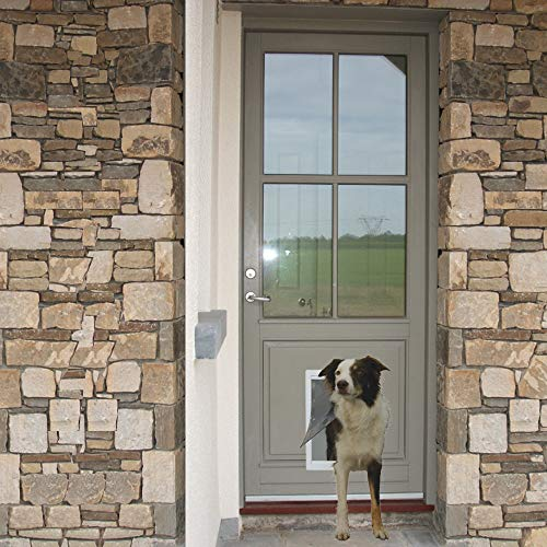 """Ideal Pet Products Designer Series Plastic Pet Door with Telescoping Frame, Extra-Large, 10.5"""" x 15"""" Flap Size"""
