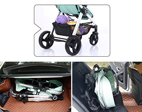 Hanmate Two-way Baby Foldable Anti-shock High landscape Carriage Infant Stroller Pushchair Pram Without Brim (Purple, Size3) by Hanmate (Image #9)