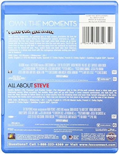 The Other Woman & I Love You Beth Cooper + All About Steve Feature Blu Ray Fun Comedy movie Set Combo Triple Edition