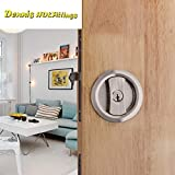 | Door Locks | Sliding Door Lock Set Kit 35|50mm Door Thickness Hook Lock Pocket Door Round | by SOMITI