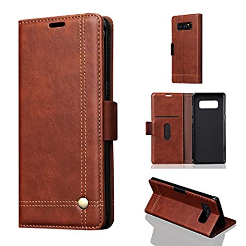 Phone Case Retro Adsorption Type Holster For Samsung Galaxy Note 8 Case Leather Magnetic Flip Card Case Stand Cover Echou (Iphone6 Porch)