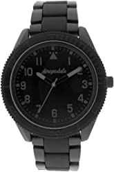 Aéropostale Mens Quartz Watch - Simple Enamel Dial - Matte Black Watch