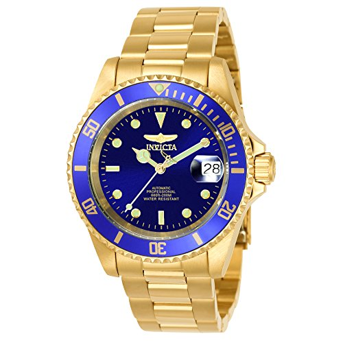 (Invicta Men's 8930OB Pro Diver Automatic Gold-Tone Bracelet Watch)