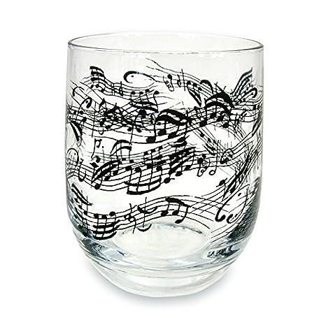 Glas Notenlinien sch/önes Geschenk f/ür Musiker