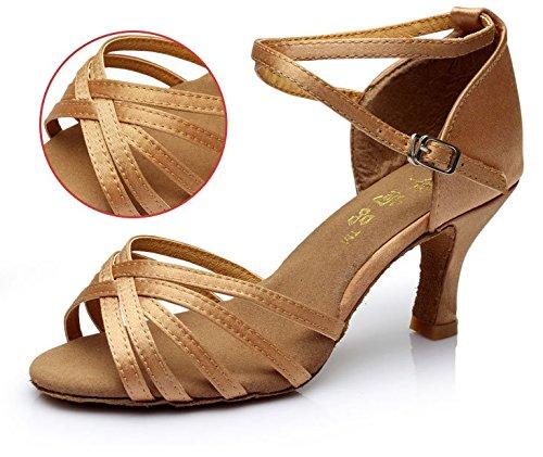 Color Nouvelles 40 Taille Femmes amp; De Adultes Marron Pour Salon Les Tmkoo Latino Latine Des Chaussures Danse gSnfOxAw0q