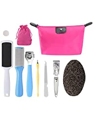 PRETTY SEE 10 in 1 Foot File Callus Remover Stainless Steel Pedicure Rasp Tools