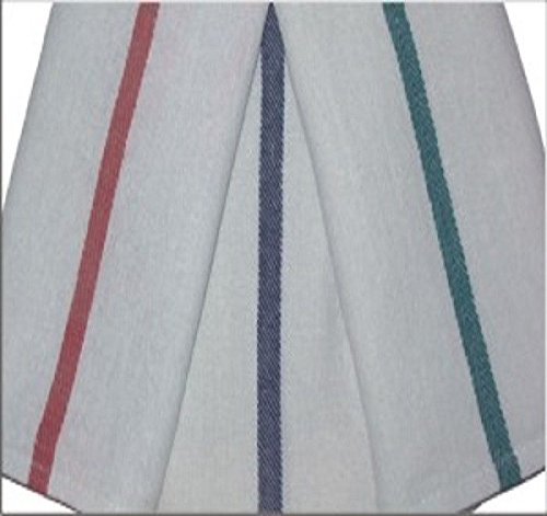 24 15x24 Barber Shop Kitchen Towels Herringbone Blue Stripe 22oz Quick (Barber Stripe)