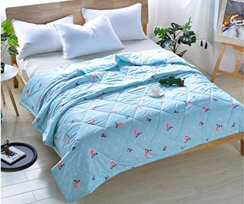 BEIRU Summer Cool And Lively Printed Aloe Cotton Is The Core Bed Linen In Summer Clean Quilt Air Conditioner ZXCV (Color : 1, Size : 100150cm) by BEIRU