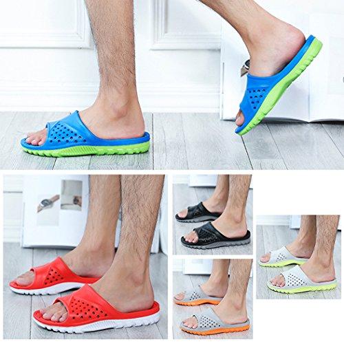 Bathroom Slippers, outgeek 1 Pair Home Sandals Anti Slip EVA Bath Slippers for Men Navy Blue