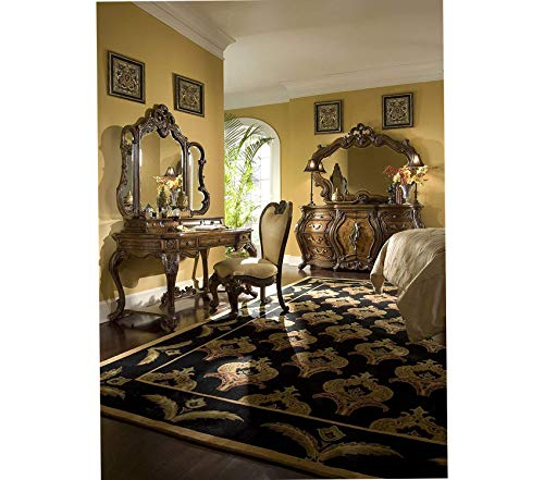 Wood & Style Furniture Palais Royale Vanity/Writing Desk Rococo Cognac Premium Office Home Durable Strong