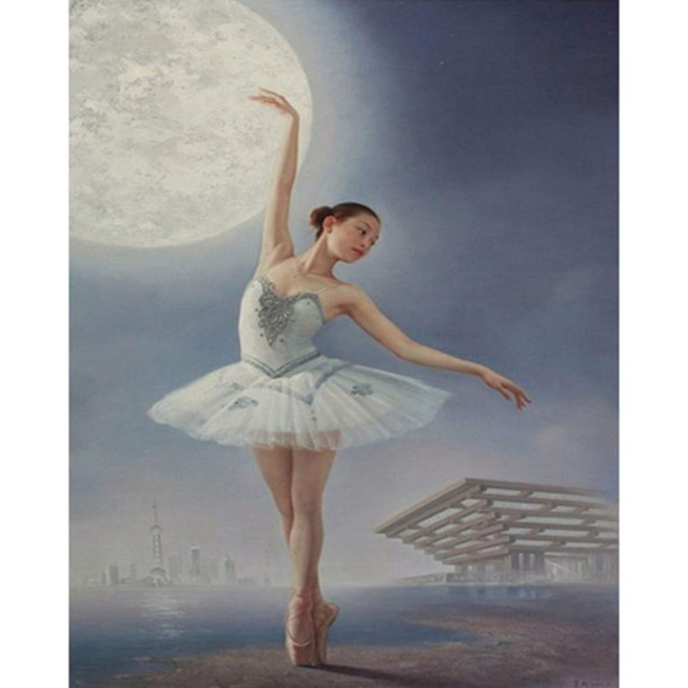 WALSITK Volle 5D DIY Ballett Tänzerin Mädchen Hand Stickerei Diamant Malerei Kreuzstich Strass Zimmer Mode Dekoration 80x100 cm