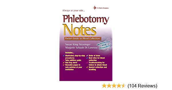 phlebotomy notes pocket guide to blood collection