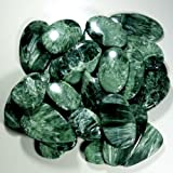 1001CTS. WHOLESALE LOT NATURAL GREEN SERAPHINITE MIX CABOCHON GEMSTONE