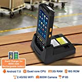 MUNBYN 3G 4G Handheld Android 7.0 POS Terminal with 1D Honeywell Barcode Scanner with Charger Cradle and Touch Screen WiFi BT GPS for Delivery Warehouse Management Shipping