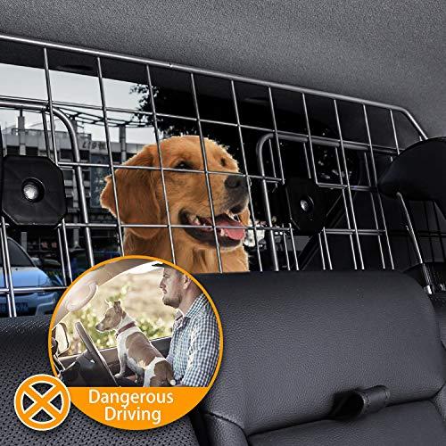 Sailnovo Dog Barrier for Car SUV Vehicles, Adjustable Pet Barrier Wire Mesh Dog Car Barrier for Cargo Area - Universal Fit by Sailnovo (Image #5)