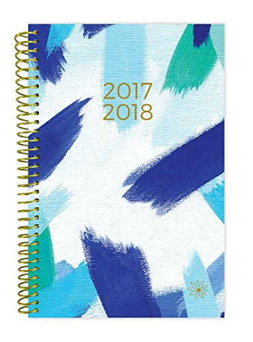 "bloom daily planners 2017-18 Academic Year Daily Planner - Passion/Goal Organizer - Monthly and Weekly Datebook and Calendar - August 2017 - July 2018 - 6"" x 8.25"" - Blue Strokes"