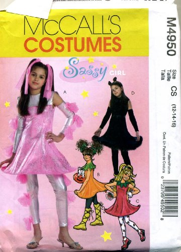 McCall's Costumes Sassy Girl Mini Dress Leg Warmers Sewing Pattern #M4950