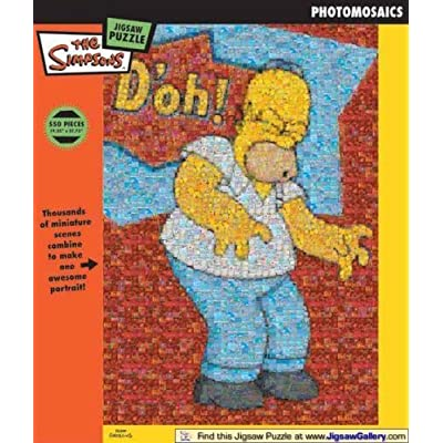 The Simpsons Homer Doh Photomosaic Jigsaw Puzzle 550pc By Bv Leisure Ltd