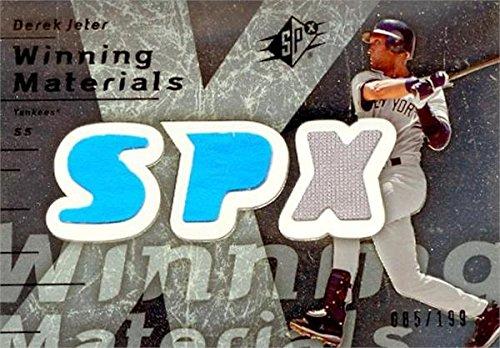 Derek Jeter Autograph Baseball - Derek Jeter player worn jersey patch baseball card (New York Yankees) 2007 Upper Deck Winning Materials #WMDJ2 LE 85/199